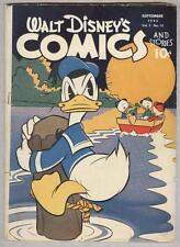 Walt Disney's Comics and Stories #36 September 1943 VG