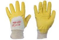 12x Arbeitshandschuhe Nitril Handschuhe gelb Yellowstar Schutzhandschuhe Gr 7-11