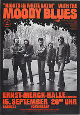 "Moody Blues German 16"" x 12"" Photo Repro Concert Poster"