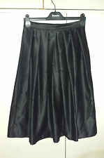 STUNNING Elegant Black Satin Full Circle Skirt Victorian Gothic 50's Rockabilly