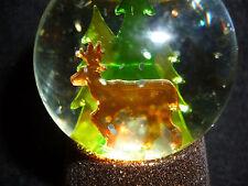 Hallmark Gift Bag Deer in Woods Lighted Snow Globe Glitter NEW