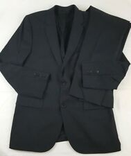 HUGO BOSS Aeron1 / hamen1 Mens Black Suit 100% Wool 40R / 34W