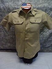 Vintage-1972 US Army Khaki Tan Short Sleeve Shirt Man's Vietnam Shade 1 SMALL