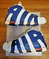 Nike Air More Uptempo Sz 10.5 Mens  Blue Orange Knicks NYC Pippen  921948-101