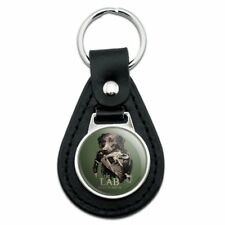The Lab Results are in Labrador Duck Hunting Black Leather Keychain