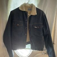 Vintage  Roebucks Sears Sanforized Fleece Lined Denim Jacket Size 38 R