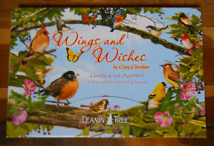 20 Leanin Tree Greeting Box Cards Set WINGS & WISHES Lots of BIRDS,Greg Giordano