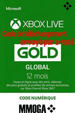 Abonnement Xbox Live Gold 12 mois - Global Code - Code jeu à télécharger - FR