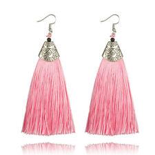 New Women Vintage Fish Bohemian Boho Dangle Long Tassel Fringe Ear Drop Earrings