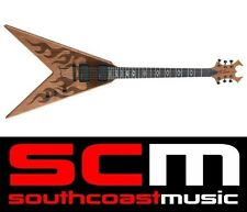 RRP$1300 BC Rich Speed V IT Natural Laser Etched Flame Electric Guitar BCSVITLFN