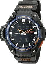 Casio SGW-450H Digital/Analog Watch w/black Resin Twin Sensor Black Watch