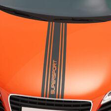 Rennstreifen Aufkleber Dekor Rallye Streifen Schrift Wunschtext Text #1369