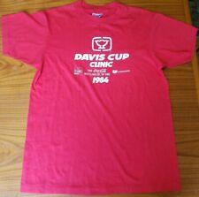 Vintage 1984 Portland OR Davis Cup Clinic T-shirt M 38-40 Coca-Cola Red Hanes