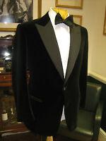 Mens Black Designer Wedding Grooms Tuxedo Casual Velvet Coat Jacket Blazer UK