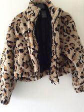 Animal print cozy zip up jacket Size 12