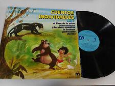 """CUENTOS INOLVIDABLES VOL. 1 EL LIBRO DE LA SELVA LP VINILO 12"""" G+/VG 1981"""