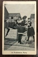 Ladies Fighting & Pouring Beer Prohibition Party~Anti~Alcohol 1910 Postcard~c665