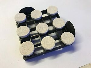 CORNER CORAL FRAG PLUGS SHELF 8CM X 8CM INCLUDED 9X CORAL PLUGS LPS SPS MARINE