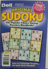 Dell Original Sudoku October 2017 Easy to Challenger Puzzles FREE SHIPPING sb