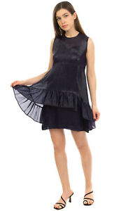 RRP €215 L'AUTRE CHOSE Brocade Tiered Dress Size IT 40 / XS Purple Made in Italy