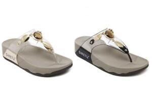 Ladies Womens Fitflop Beach Flip Flops US Mule Summer Sandals Summer Transparent