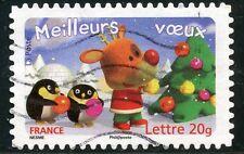 TIMBRE DE FRANCE  OBLITERE N° 3988 / AUTOADHESIF N° 99 MEILLEURS VOEUX
