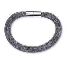Made With Swarovski Crystal Mesh Stardust Magnetic Bracelet Single Grey