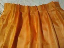 """New listing Vntg Sears 60s Pumpkin Orange Fiberglass Curtain/Drape. New. Panel is 48""""w 45""""h."""