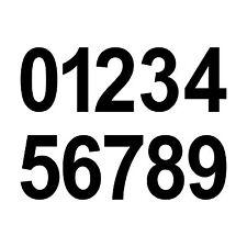 10 Ziffern Aufkleber 6cm schwarz Tattoo Ziffer Zahl Hausnummer Zimmer Nummer