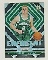 2018-19 Prizm EMERGENT SILVER PRIZM #17 DONTE DiVINCENZO RC Rookie QTY AVAILABLE