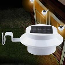 Hot Solar Powered Clôture 3LED Outdoor Lampe Gutter toit cour Wall Garden New EH