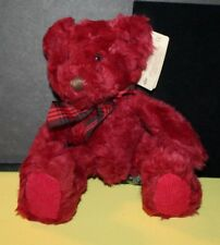 """Russ Bears from the Past Cranberry Teddy Bear 10"""" Dark Red Soft Bear w/ Tag"""