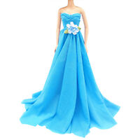 Handmade Wedding Dress Party Gown Clothes Outfits Fit For Doll Gift