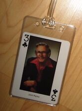 Jack Ripley Luggage Tag - Vintage 1980's Country Music Western Playing Card Tag