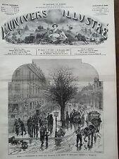 L'UNIVERS ILLUSTRE 1877 N 1181 DISTRIBUTION DE SOUPE AUX INDIGENTS, A PARIS
