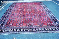 "c1910's Antique Fine Room Size Bibikabad Rug Great Size 11' x 14' 7"" Sale Price"
