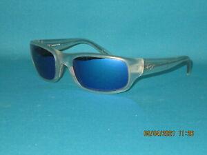 MAUI JIM MJ-103 05CM STINGRAY Crystal/Polarized Blue Mirror Men Sunglasses 55mm