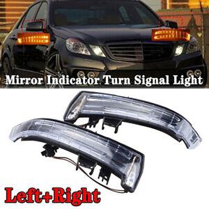 2PCS Mirror LED Indicator Turn Signal Light For Mercedes Benz W204 W212 W164
