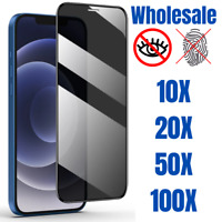 Wholesale Lot Privacy Tempered Glass Screen Protector For iPhone 11 XR Xs 7 Plus