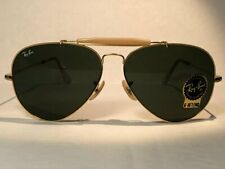 B&L RAY BAN USA OUTDOORSMAN AVIATOR 62[]14 G15 VINTAGE 24KGP NOS NEW OLD STOCK