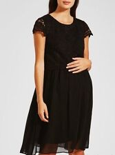 Lovely Ladies Black Lace Top Maternity Party Dress From Matalan- Size 16 - BNWT