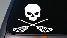 LACROSSE STICKER SKULL DECAL BALL SPORT STICKER EUROPE AMERICA LACROSSE 6""
