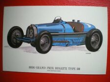 POSTCARD CAR 1934 GRAND PRIX BUGATTI TYPE 59