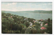 Panorama Seneca Lake Watkins New York 1910c postcard