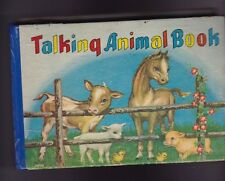 Talking Animal Book Made in Japan 1950s Kids Book