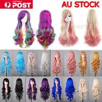 Fashion 80cm Cosplay Costume Long Full Hair Wavy Curly Wig Wigs Women Girls GIFT