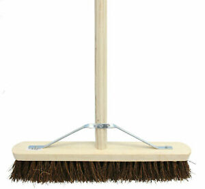 """24"""" Stiff Broom C/W Handle & Stay Brush Sweeping Industrial Yard Outdoor Strong"""