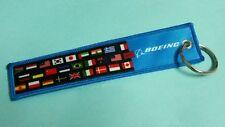 Embroidery Keychain Boeing Flag Malaysia US UK Singapore Korea India Spain Japan