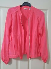 100% Silk Jacket - Country Road - Pink - Perfect condition Size 10