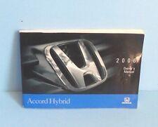 06 2006 Honda Accord Hybrid owners manual
